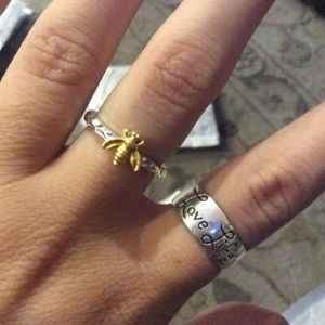 🐝 Bee Double Toned Silver & Gold Ring